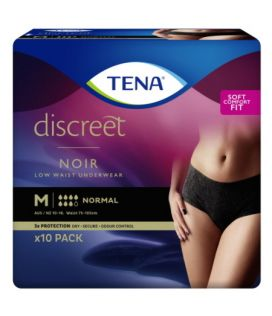 Tena Discreet Pants Noir Womens Medium Black Black