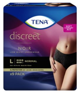 Tena Discreet Pants Noir Womens Large Black