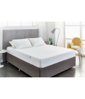 Mattress Protector Basic Fitted King 245cm X 210cm 1200ml Waterproof White